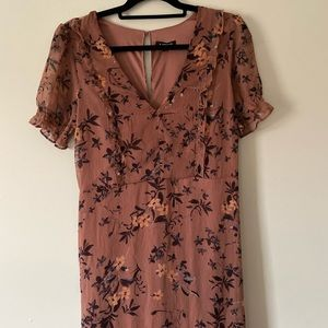Mid length high/low floral dress
